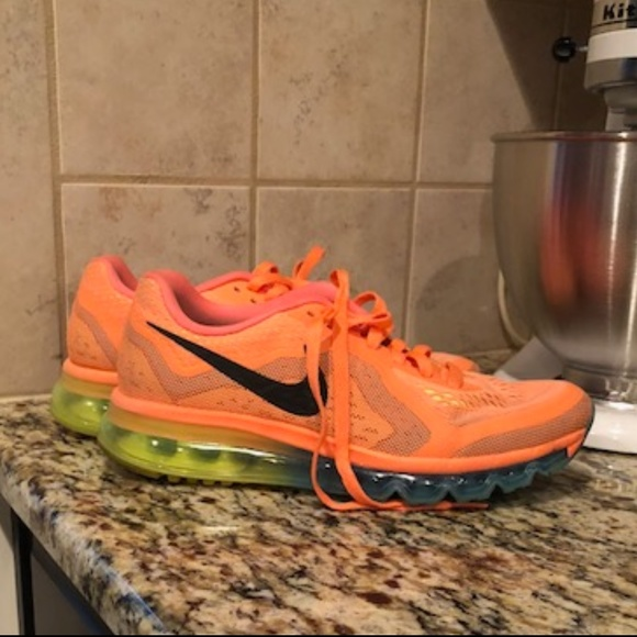 Nike Wmns Air Max 2014 Atomic Orange Gamma BluE. M 5b2d9d35c89e1d89fb4e07e7 11e7f7649